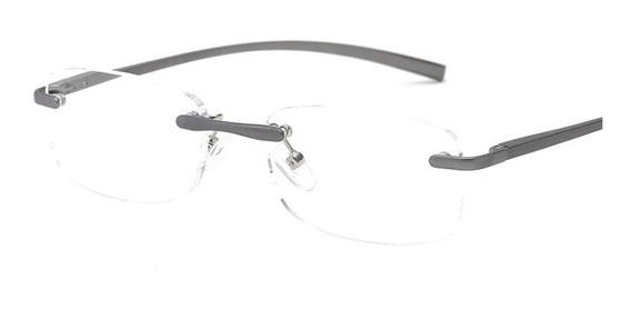 Óculos De Leitura Sem Moldura De Alumínio +1,50 Cor Cinza