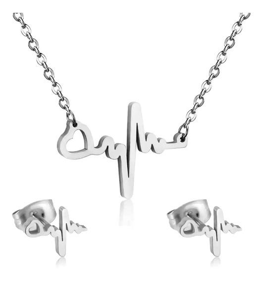 Conjunto Collar Y Aretes De Electro