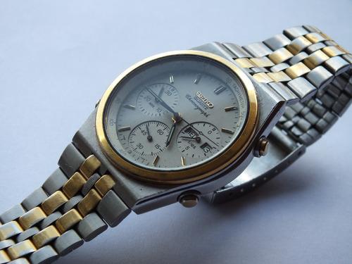 Relógio Seiko Cronômetro 7a38 - Década De 80 Conservado