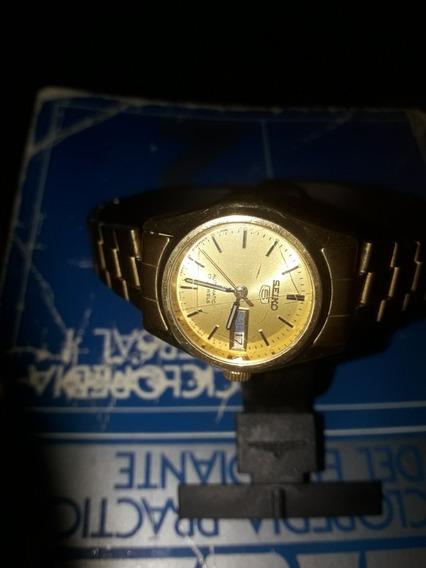 Reloj Seiko 5 Automatico Dorado 17 Jewels
