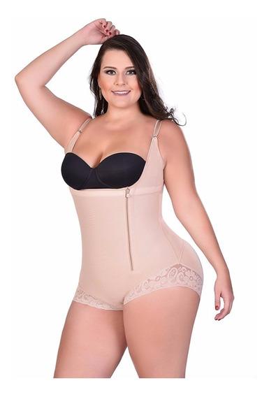 Body Modelador Plus Size Cinta Modeladora Compressão S/ Bojo