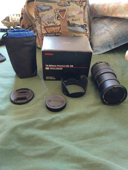 Lente Sigma 18-250 Mm F3.5-6.3 Dc Macro + Polarizador 72mm