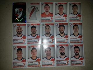 Lote Completo River Plate Superliga Argentina 18/19 Panini