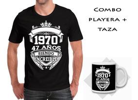 Playera Cumpleañero + Taza 11 Onzas Leyendas