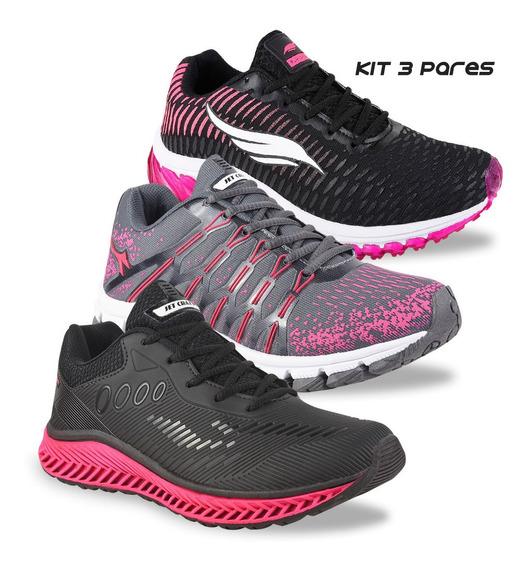 Kit 3 Pares Tênis Feminino Olymp Olimp J Caminhada Promoção