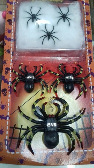 Kit Arañas Halloween C Telaraña Chirimbolos