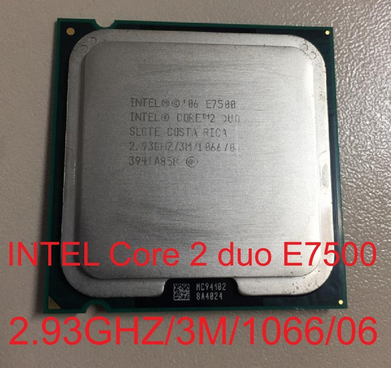 Processador Intel Core 2 Duo E7500 2.93 Ghz