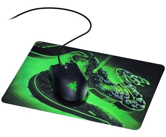 Kit Mouse E Mouse Pad - Razer Abyssus Lite + Goliathus Mob Construct