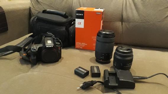Câmera Semi Profissional Sony A37+ Lentes + Bateria Extra