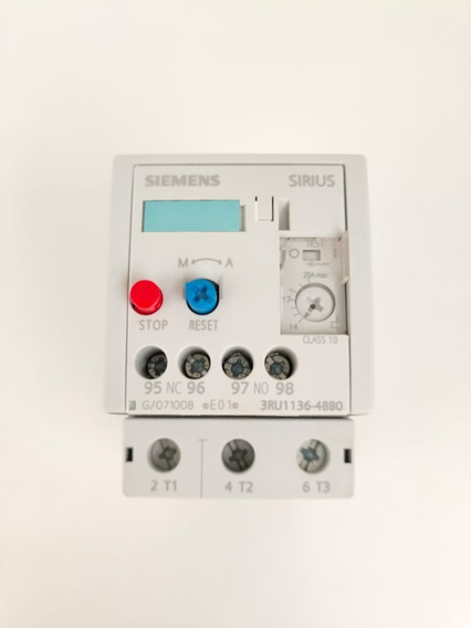 Rele Termico Bimetal Sobrecarga Siemens 3ru1136-4bb0 14-20a