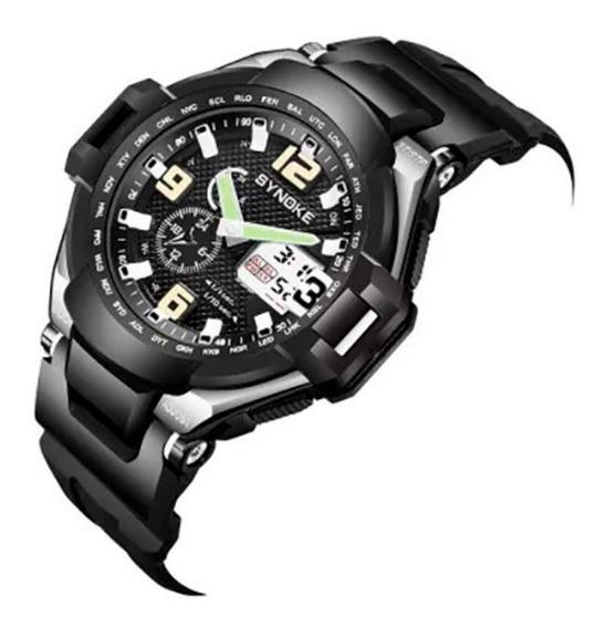 Relógio De Pulso Militar Synoke 67606 Multifuncional