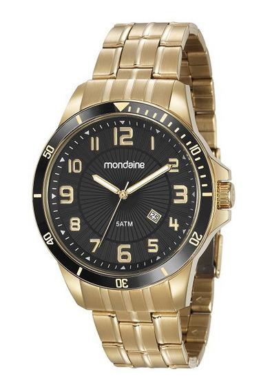 Relógio Masculino Mondaine Aço Dourado 78758gpmvda2 Nota Fiscal E Garantia De 1ano