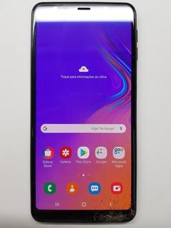 Celular Samsung A7 2018 A750 128gb Preto/azul Usado Trincado