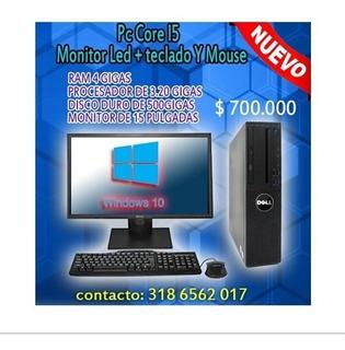Computado: Pc Core I5 - Monitor Led + Teclado + Mause