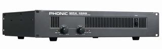 Potencia 300+300/4 200+200/8 Xlr 1/4 Trs Phonic Max 1000