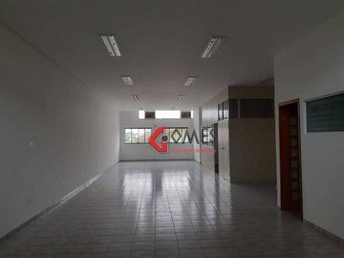 Imagem 1 de 21 de Salão Para Alugar, 135 M² Por R$ 3.000,00/mês - Jardim Hollywood - São Bernardo Do Campo/sp - Sl0084