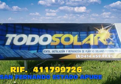 Instalación Y Reparación De Sistema Solares Foto Voltaicos.