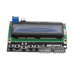 Display Lcd 1602 16x02 Keypad 5 Botões Shield Para Arduino