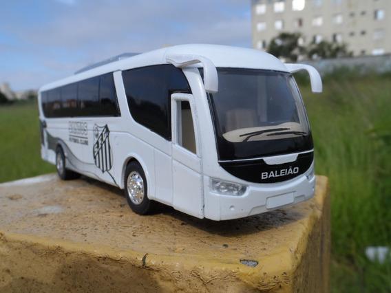 Miniatura Ônibus Do Santos Fc - Time De Futebol - Em Metal