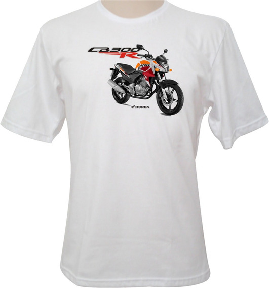 Camiseta Motocicleta Honda Cb 300r Repsol Laranja
