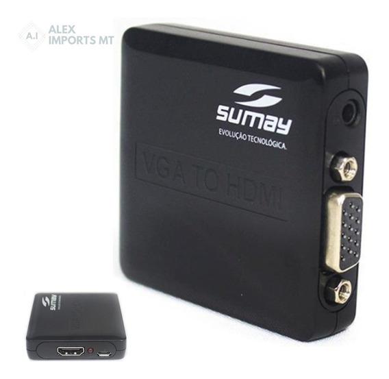 Conversor Vga + Áudio Para Hdmi-fêmea Sumay - Sm-vh02 Cuiaba