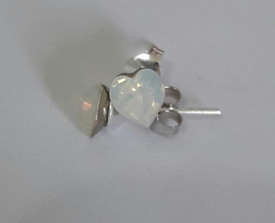 Aros Plata 925 Con Cristales Swarovski - Color Blanco Nacar