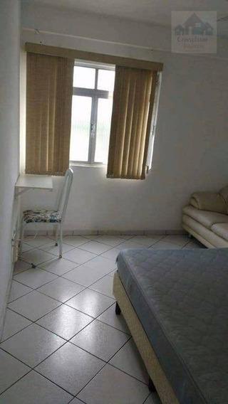 Kitnet Com 1 Dormitório À Venda, 35 M² Por R$ 150.000 - José Menino - Santos/sp - Kn0242
