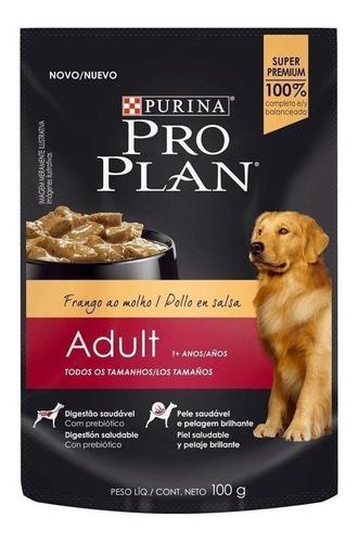 Imagen 1 de 1 de Alimento Pro Plan OptiHealth Adult para perro adulto todos los tamaños sabor pollo en sobre de 100g