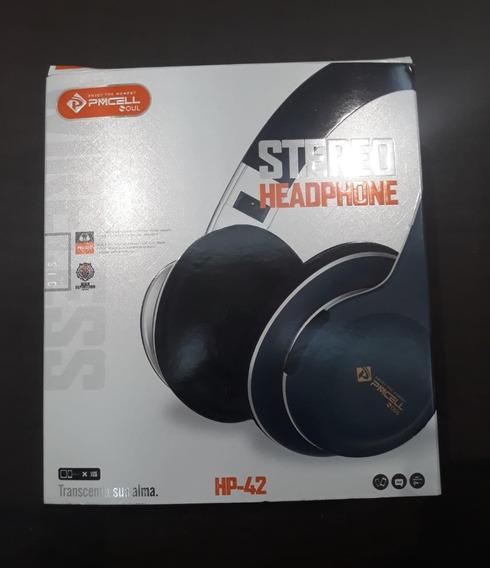 Fone Sem Fio Headphone Pmcell Hp -42 Wireless