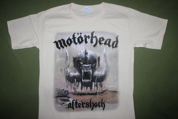 Gusanobass Playera Rock Metal Motorhead Aftershock X L