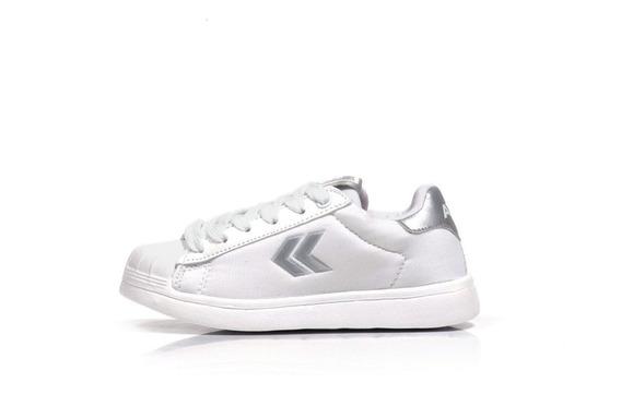 Zapatillas Escolares Atomik Chia Blancas Niñas Cordones