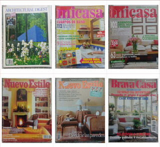 Lote 11 Revistas De Decoração E De Arquitetura