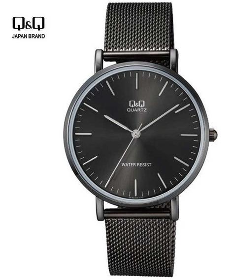Reloj Q&q Hombre Varon Malla Metal Acero Casual Q Q