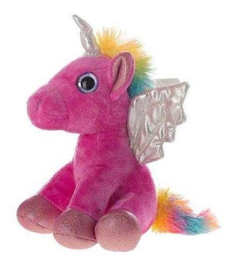 Pelucia De Unicornio 24cm Rosa