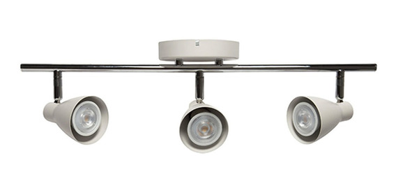 Luminario Triple Tipo Riel Base Techo Muro Tr-2403.b Illux