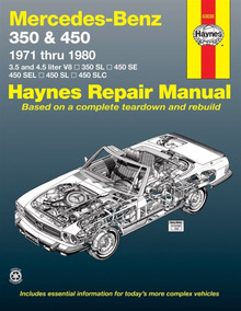 Manual Haynes De Mercedes W107 R107 W116 1971 A 1980
