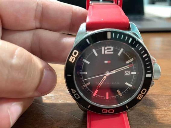 Relógio Tommy Hilfiger Original Vermelho Prova Dagua