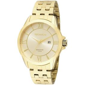 Relógio Technos Dourado 2115kos/4x Algarismo Romano Original