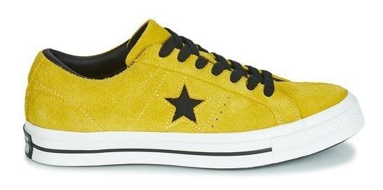 Zapatillas Converse One Star Amarillo Cuero Descarne