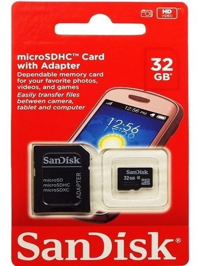 Cartão Memória Micro Sd 32gb Sandisk Original