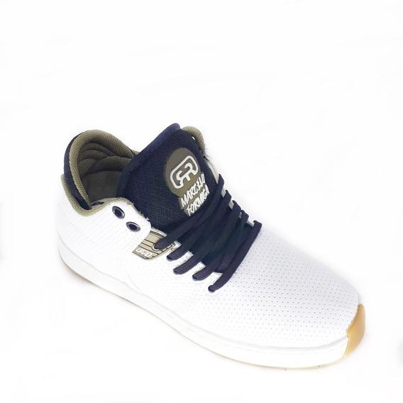 Tenis Skate Hocks Camurça Botinha Colada E Costurada + Brind