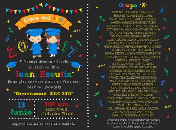 Invitaciones Graduacion Preescolar Recuerdos Cotillón Y