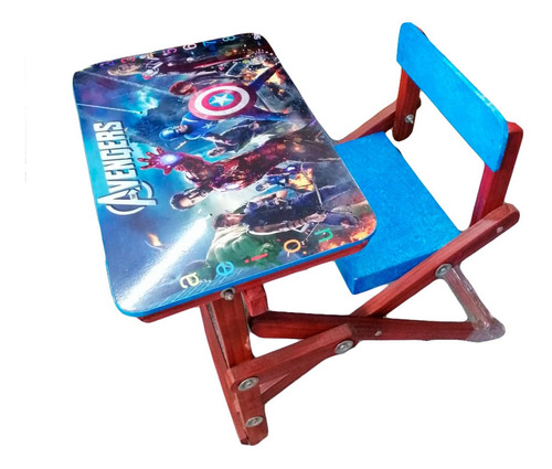 Escritorio Madera Niña Niño Tablero Avengers Frozen Plegable