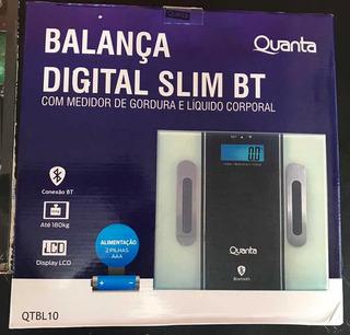 Balança Com Bluetooth Peso Corporal Vidro Temperado 180kg