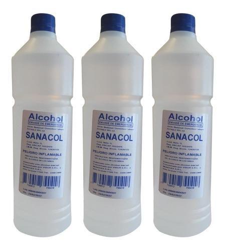 Alcohol Rectificado 95º L Entrega Inmediata Caja X 15 Oferta
