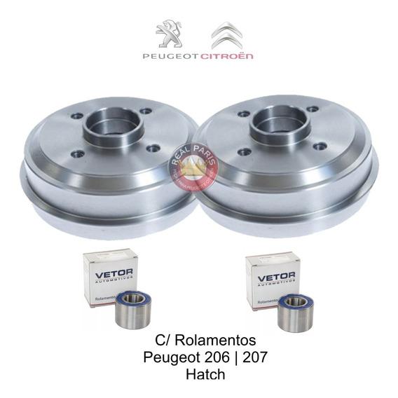 Par Tambor Freio Peugeot 106   206   207 C/ Rolamento