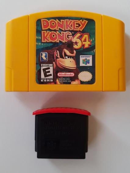 Donkey Kong 64 Americano Original + Expansion Pak Expansor Nintendo 64 Original!!
