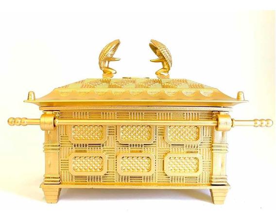 Arca Da Aliança Grande 18cm Dourada - Envio Rápido!