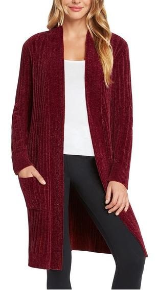 Cardigan, Saco Largo, Sweater De Felpa Para Dama