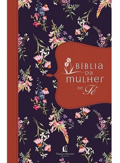 Bíblia Da Mulher De Fé - Capa De Tecido Florida - Promoção